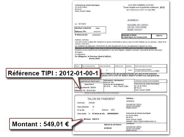 Tlpe paiement en ligne ville de cholet for Paiement en ligne hotel